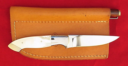 Claude Montjoy pearl fixed blade knife