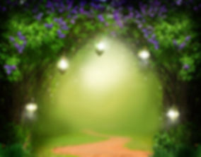 Fantasy  background . Magic forest with
