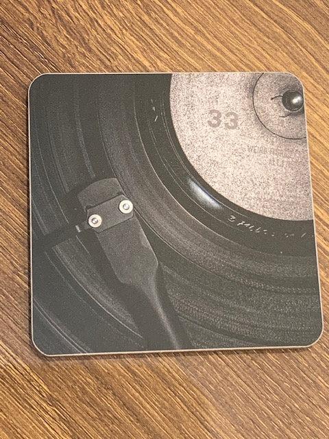 Black Vinyl Coaster