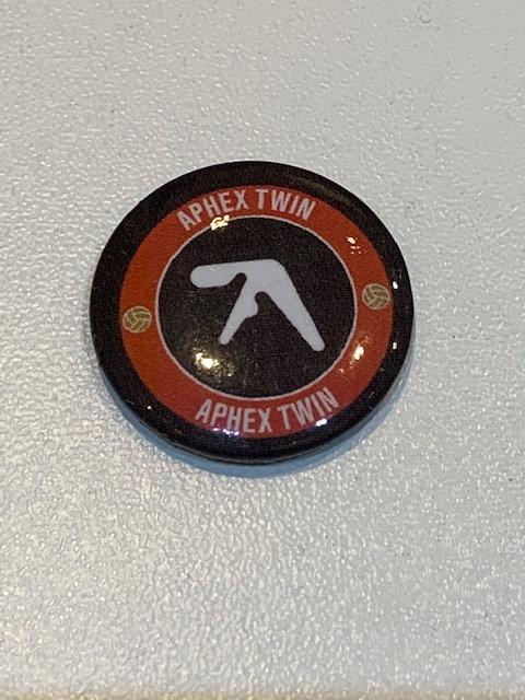 Aphex Twin pin badge