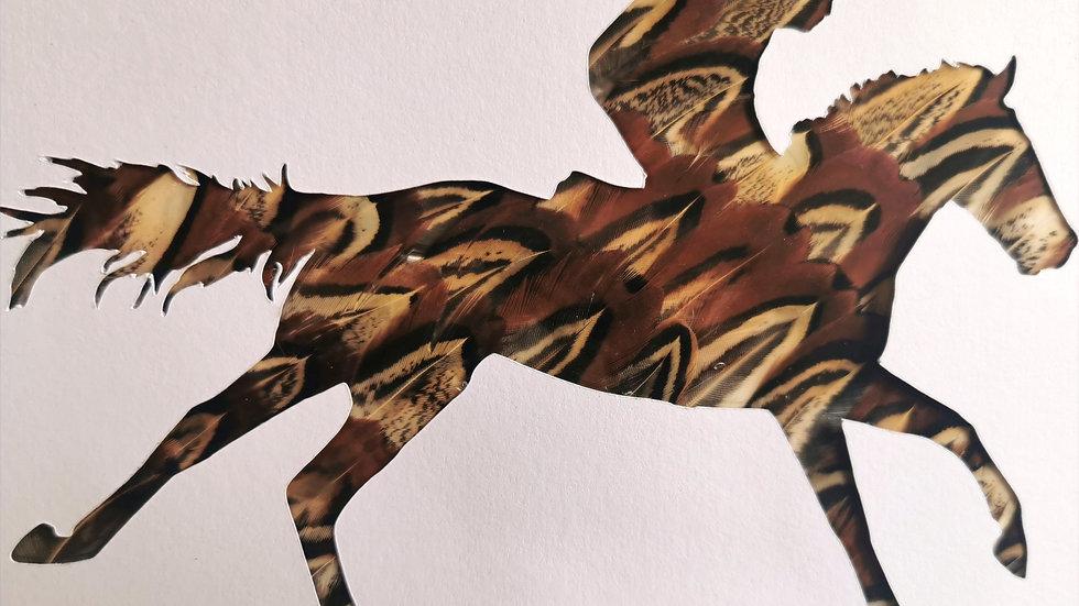 Galloping Racehorse