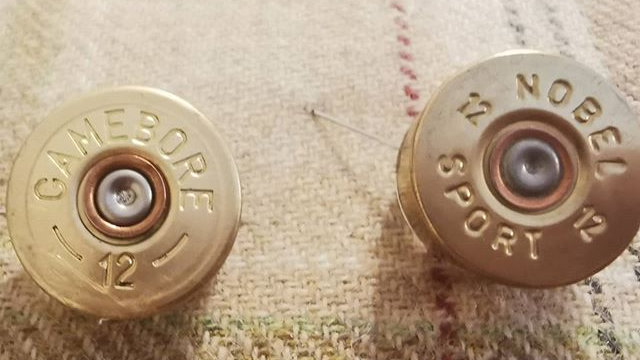 Shotgun Cartridge Brooch