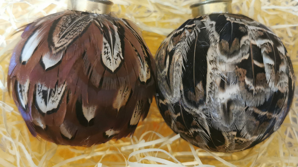 Pheasant Feather Baubles