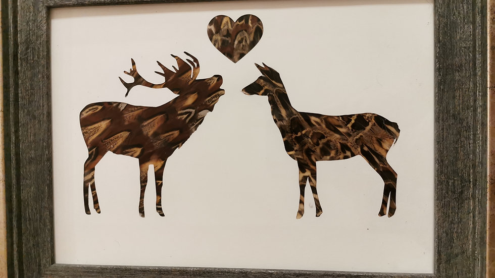 Love is in the air Stag and Doe Version