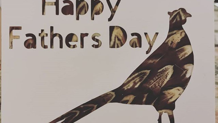 Pheasant Feather Fathers Day Card