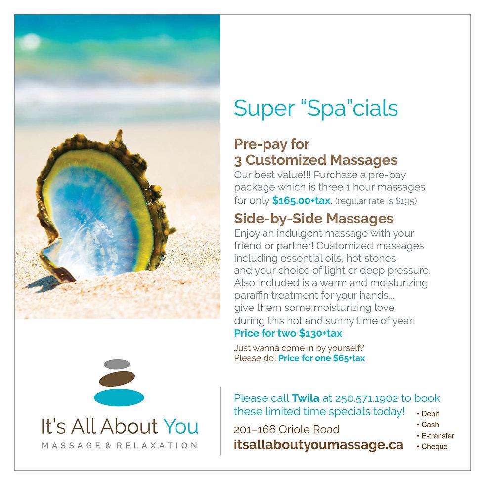 Spa Specials Kamloops Massage
