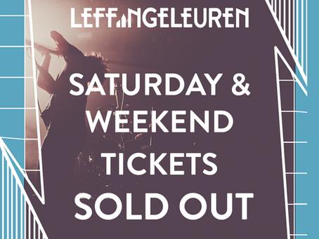 Zaterdag- en weekendtickets uitverkocht!