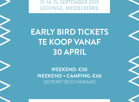 Early Bird Tickets te koop