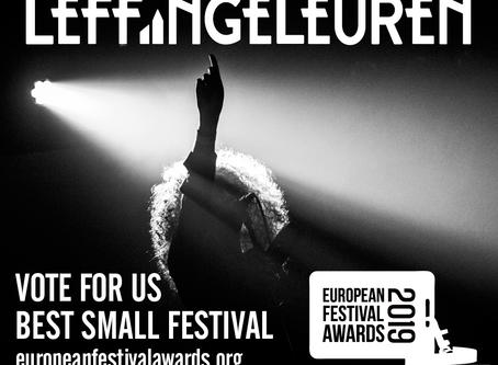 Stem voor Leffingeleuren op de European Festival Awards