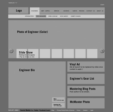 Wireframe Sample Page - Engineer Page