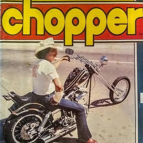 Street Chopper 8x10 signed Photo in wood frame