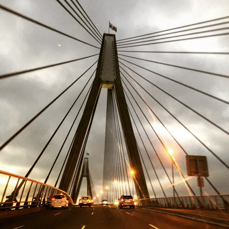 Anzac Bridge at Dusk