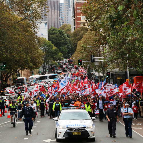 May Day March Elizabeth St Sydney
