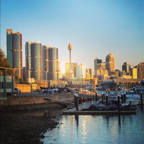 Sydney summer sunset