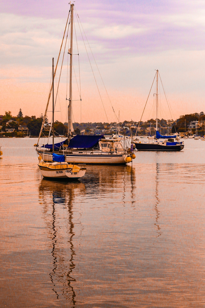 Harbour sunset reflections