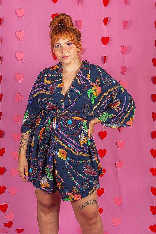Kimono 3 em 1 Festa de São João Viscose