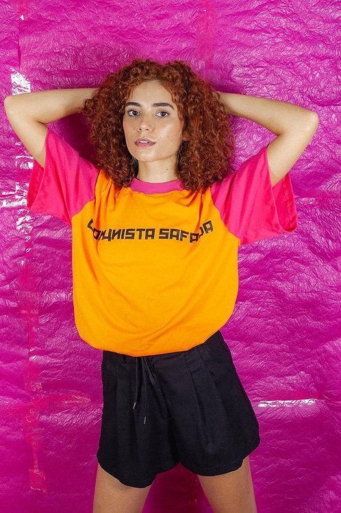 Camiseta Oversize Comunista Safada Laranja
