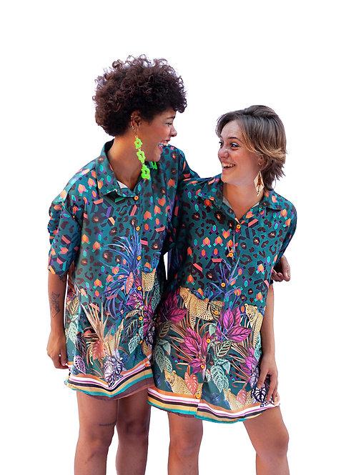 Camisa Oversized Onça Tropical