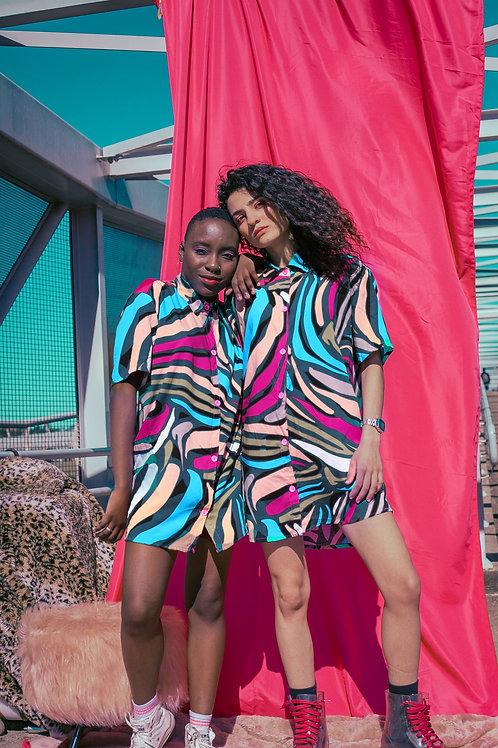 Camisa Viscose Oversized Zebra Colore