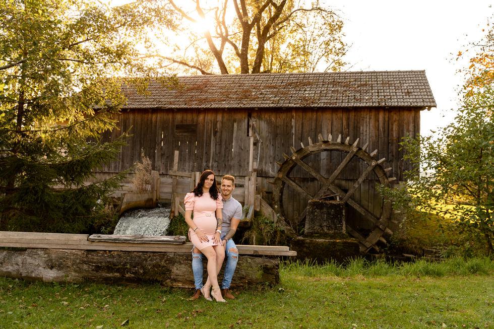 Paar Fotoshooting Babybauch Familienfoto
