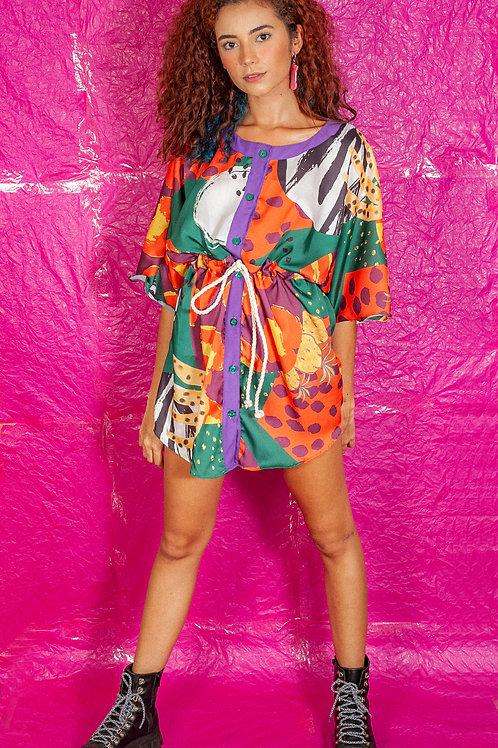 Vestido Fluído Kimono Regalia Tropical
