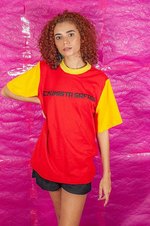 Camiseta Oversize Comunista Safada Vermelha