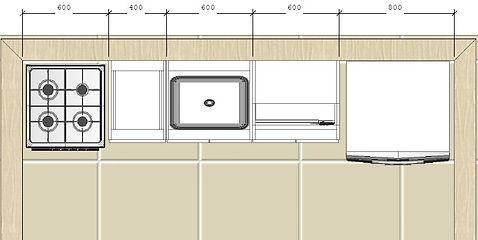 Planta baixa cozinha planeja Lina Arts M