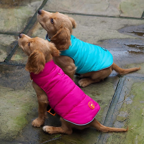 Hot Pink & Orange Reversible Puffer - From £40.00
