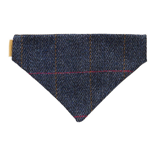 Navy Tweed Bandana for Dogs
