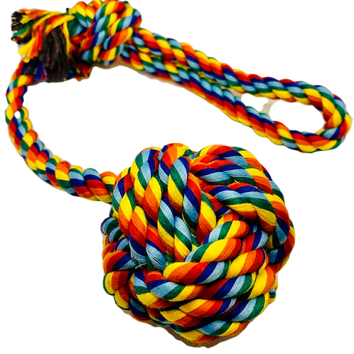Multicoloured Rope Toys - Ball on a Rope