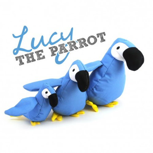 Lucy the Parrot - Dog Toy- Large Size