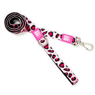 Leopard Pink Lead - From £18.00