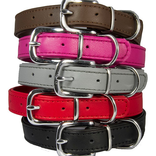 Double Leather Collar for Dogs
