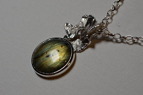 THE GREEN MAN SILVER NECKLACE