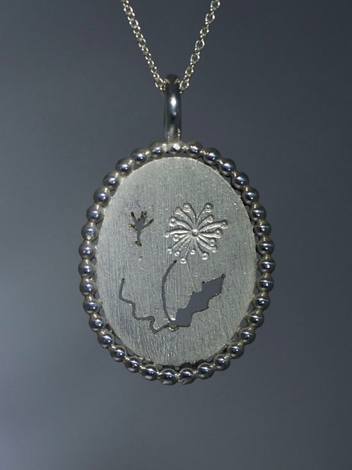 DANDELION MAKE A WISH NECKLACE