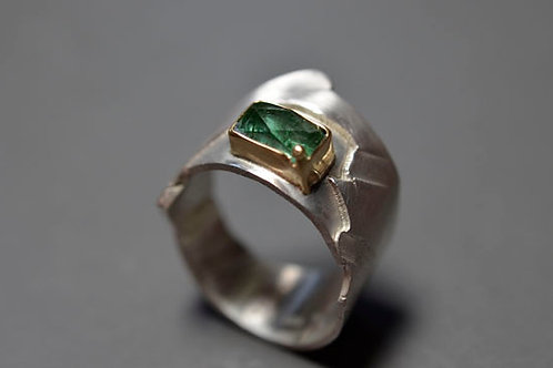 TOURMALINE LANDSCAPE RING