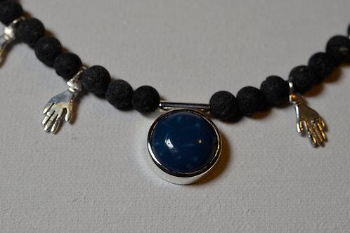 BLUE OPAL BALANCE HANDMADE NECKLACE