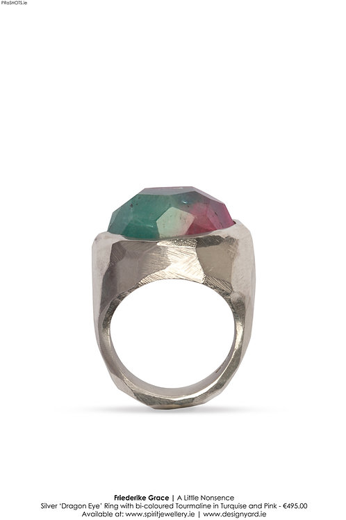 Bi-COLOURED TOURMALINE RING