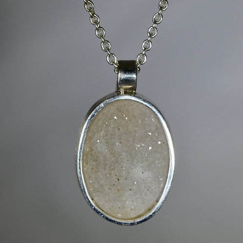 DRUSY AGATE NECKLACE