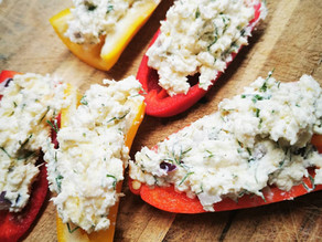 Raw Dairy Cheese Stuffed Peppers