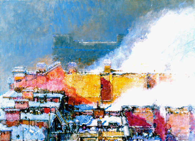 Morton Kaish, View from the Studio, Late Storm