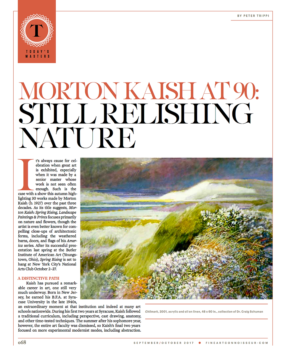 Morton Kaish Fine Art Connoisseur Article