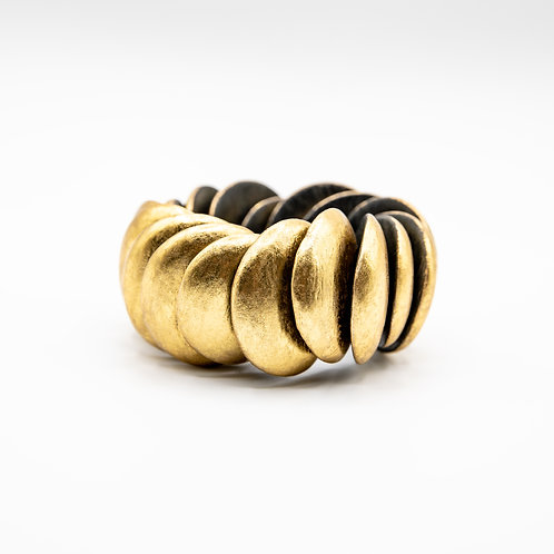 Monies Layered Circle Bracelet in Acacia with Gold Foil