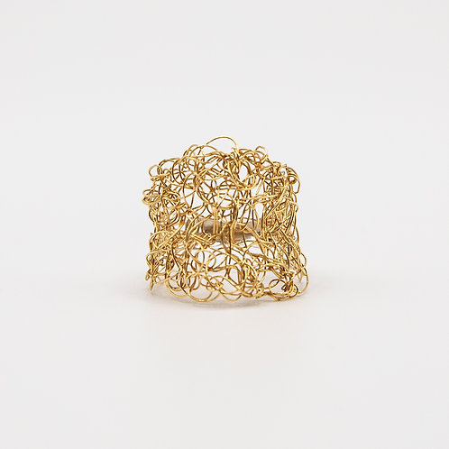 18k Yellow Gold Wire Ring