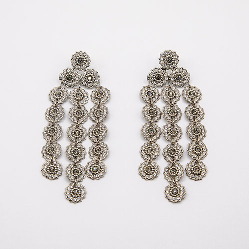 Ornella Bijoux Swarovski Fringe Earrings