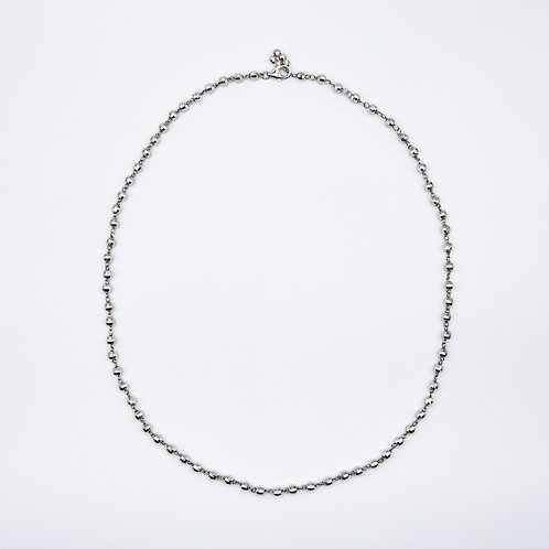 Short Chain Necklace with Handmade 925 Silver Balls