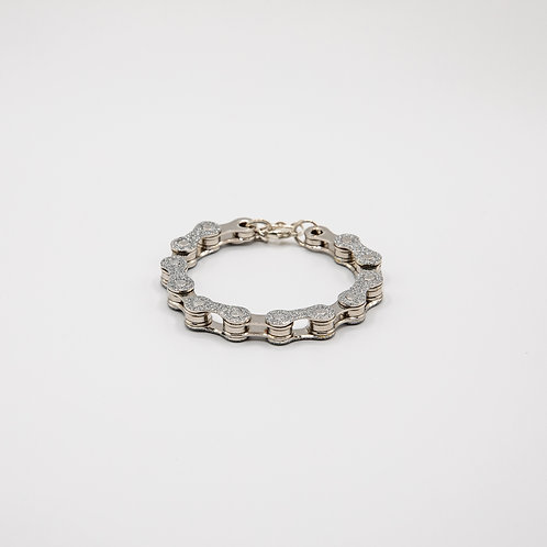 Altair Bracelet Classic Model in Silver with Silver Glitters
