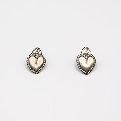 Amlé Silver Sacred Heart Earrings