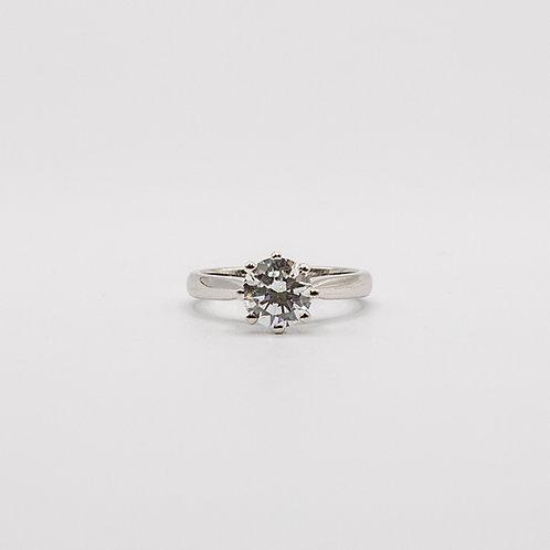 White GoldSolitaire Ring VVS 1 E