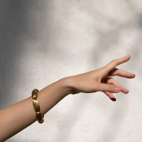 """Nanis 18k Yellow Gold Bracelet """"Satin Almond"""""""